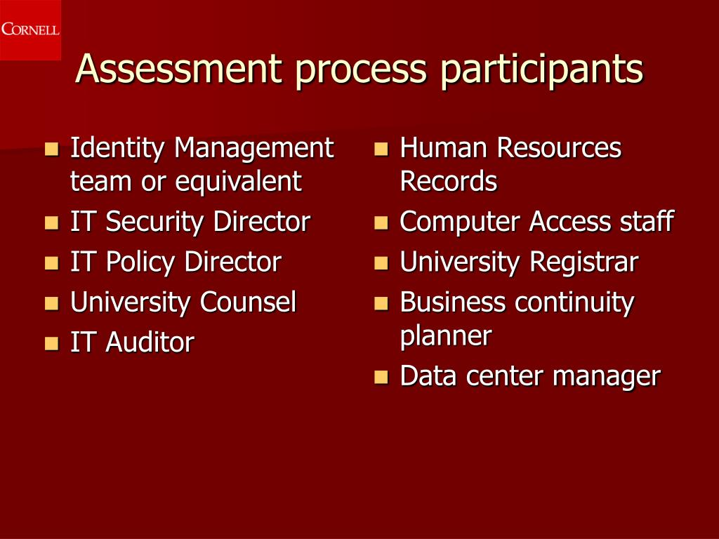 Identity Management team or equivalent