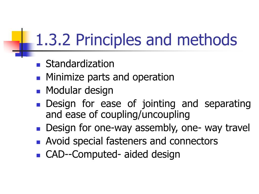 1.3.2 Principles and methods