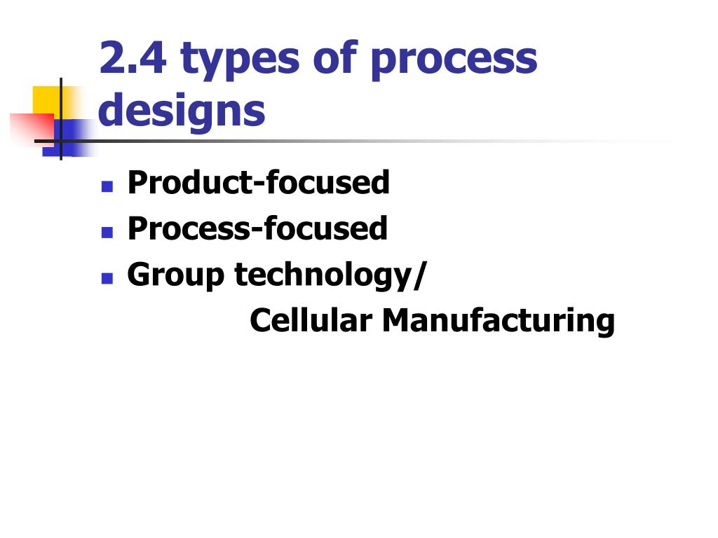 2.4 types of process designs