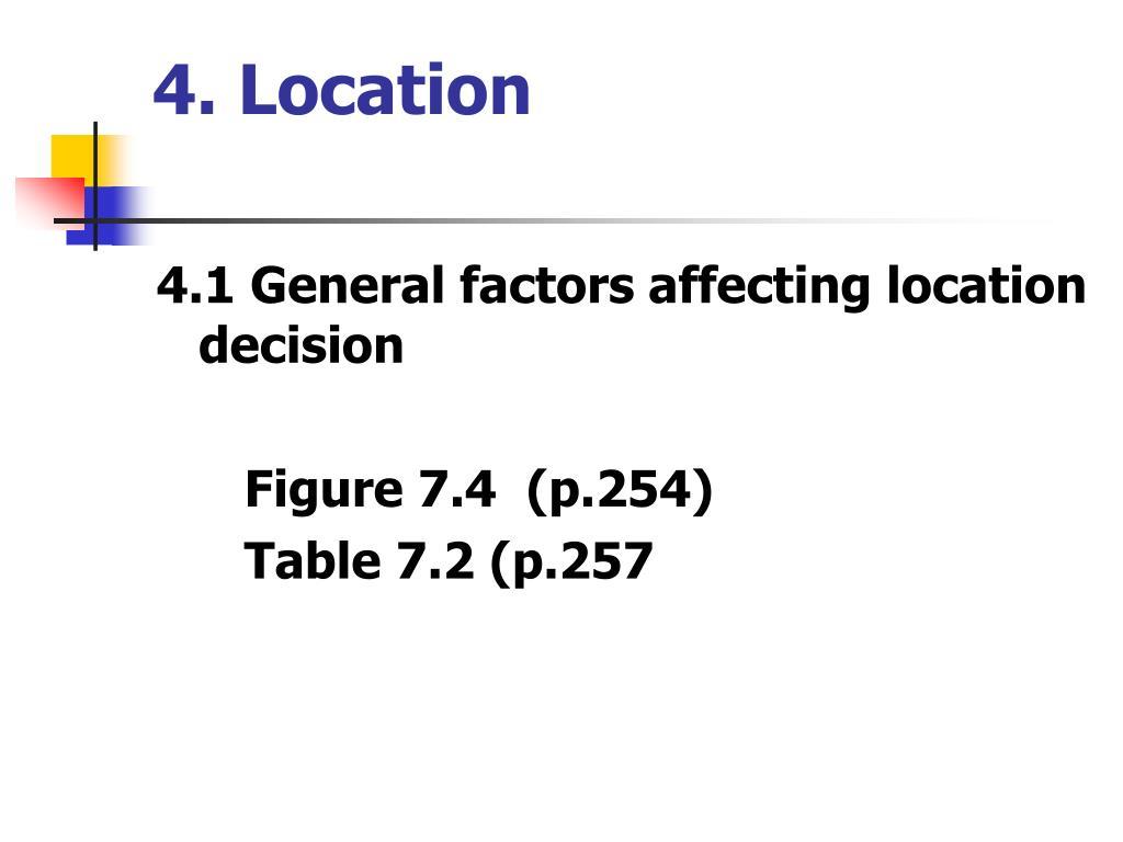 4. Location
