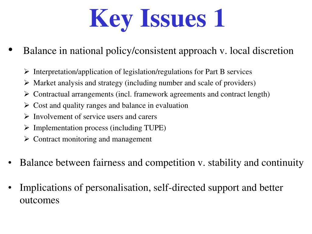 Key Issues 1
