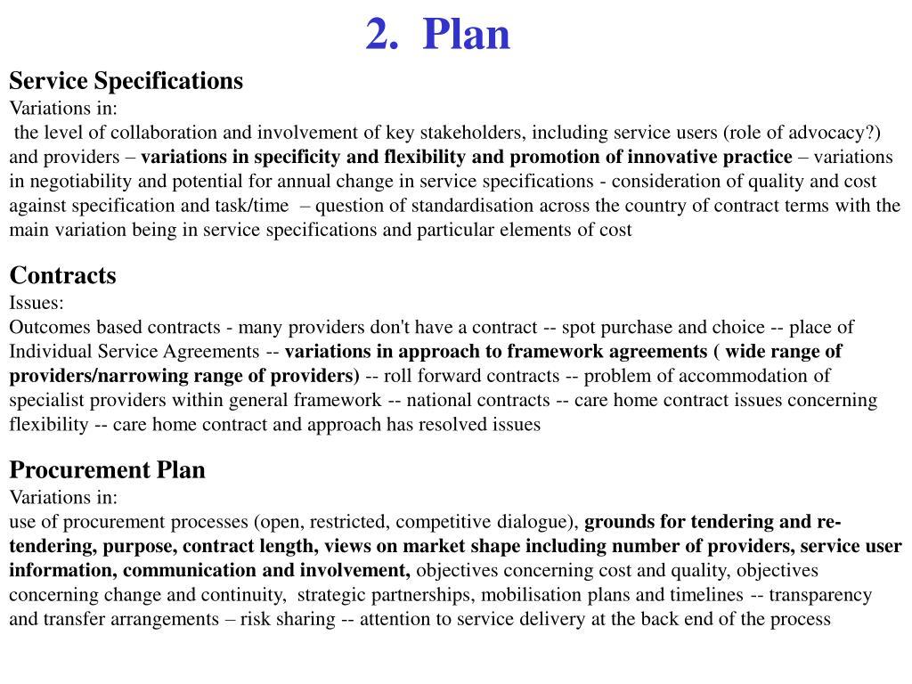 2.  Plan