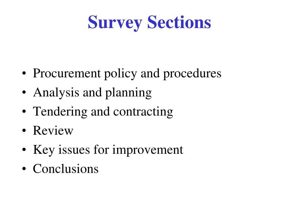 Procurement policy and procedures