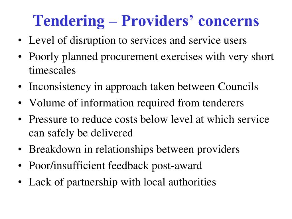 Level of disruption to services and service users
