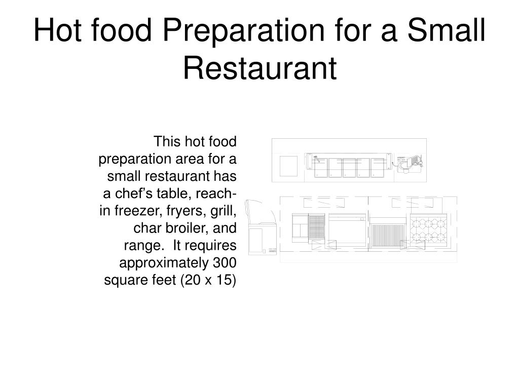 Hot food Preparation for a Small Restaurant