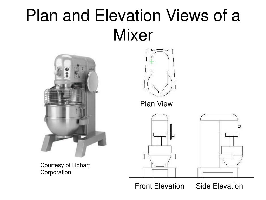 Plan and Elevation Views of a Mixer