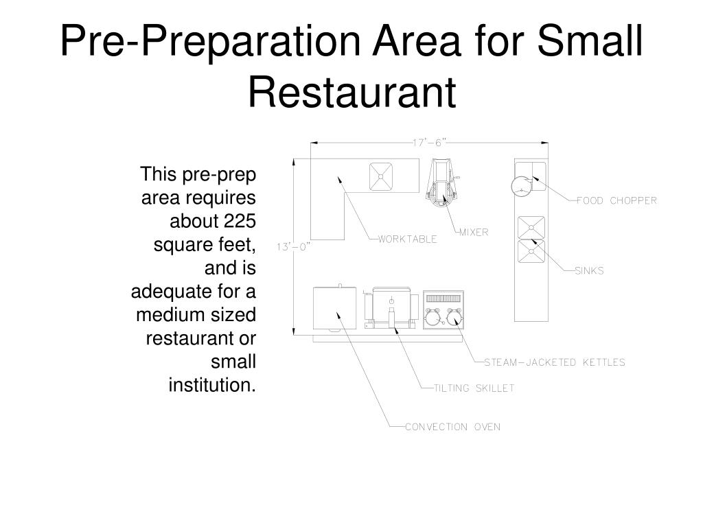 Pre-Preparation Area for Small Restaurant