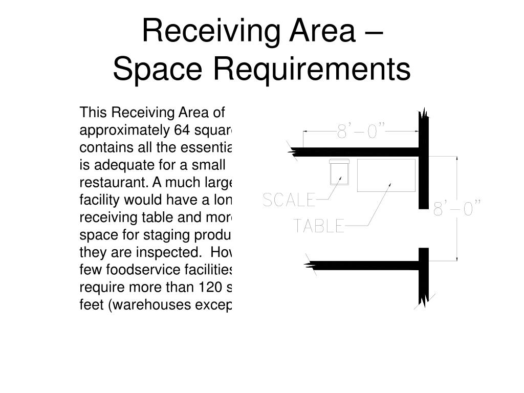 Receiving Area –