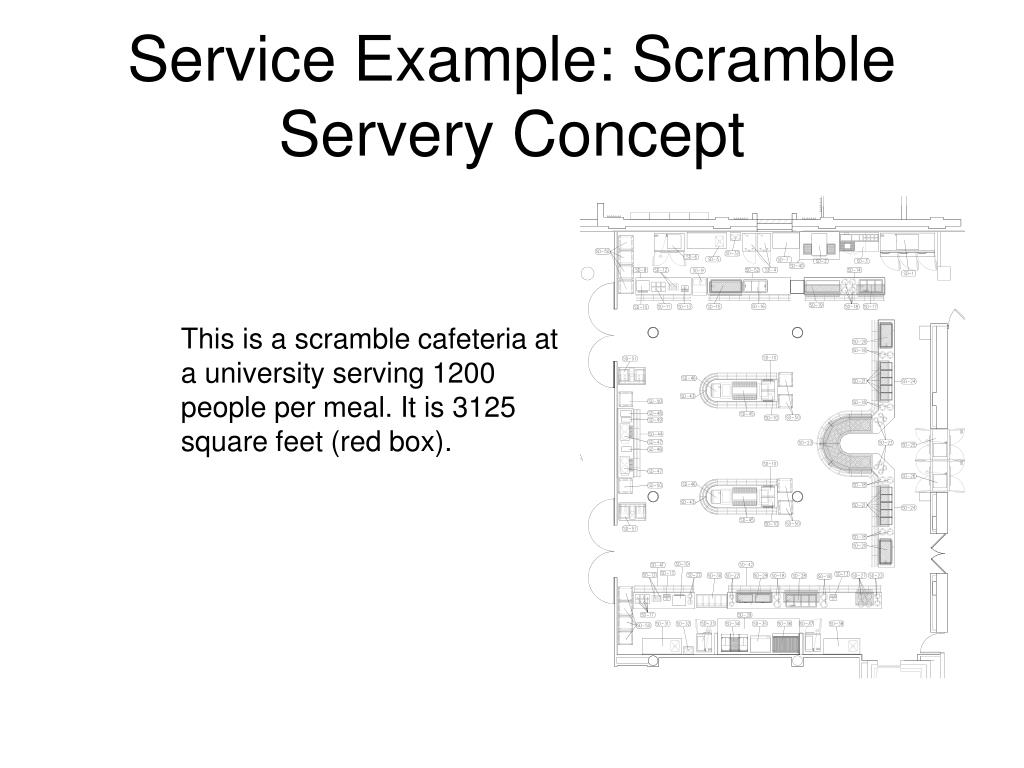 Service Example: Scramble Servery Concept