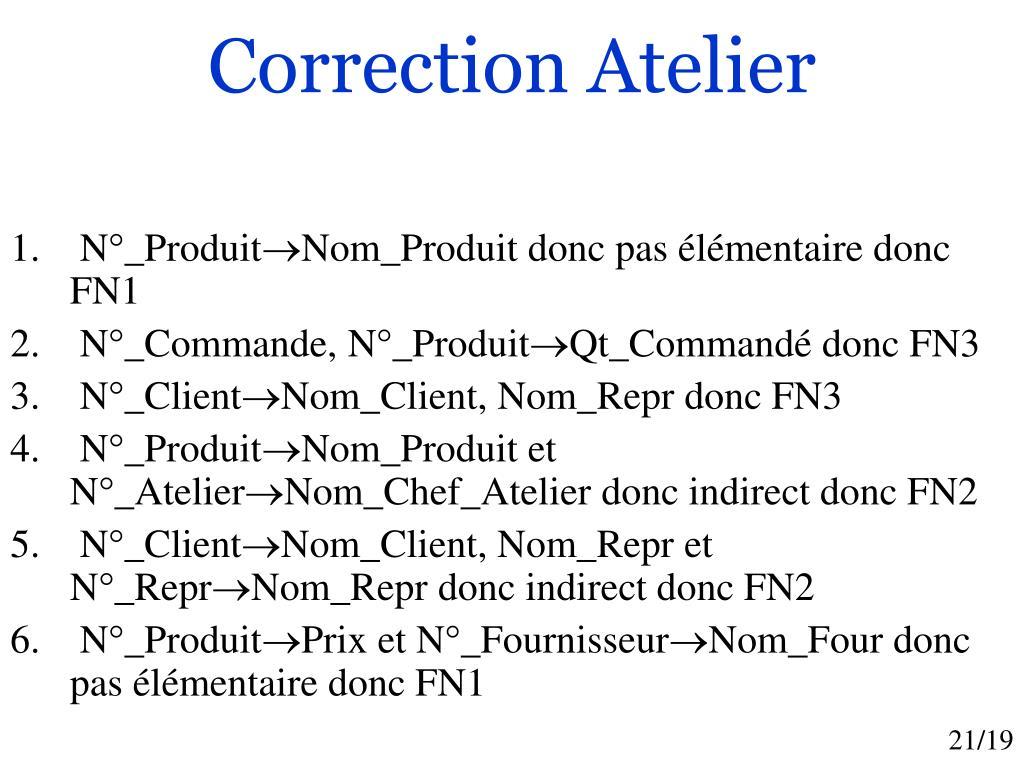 Correction Atelier