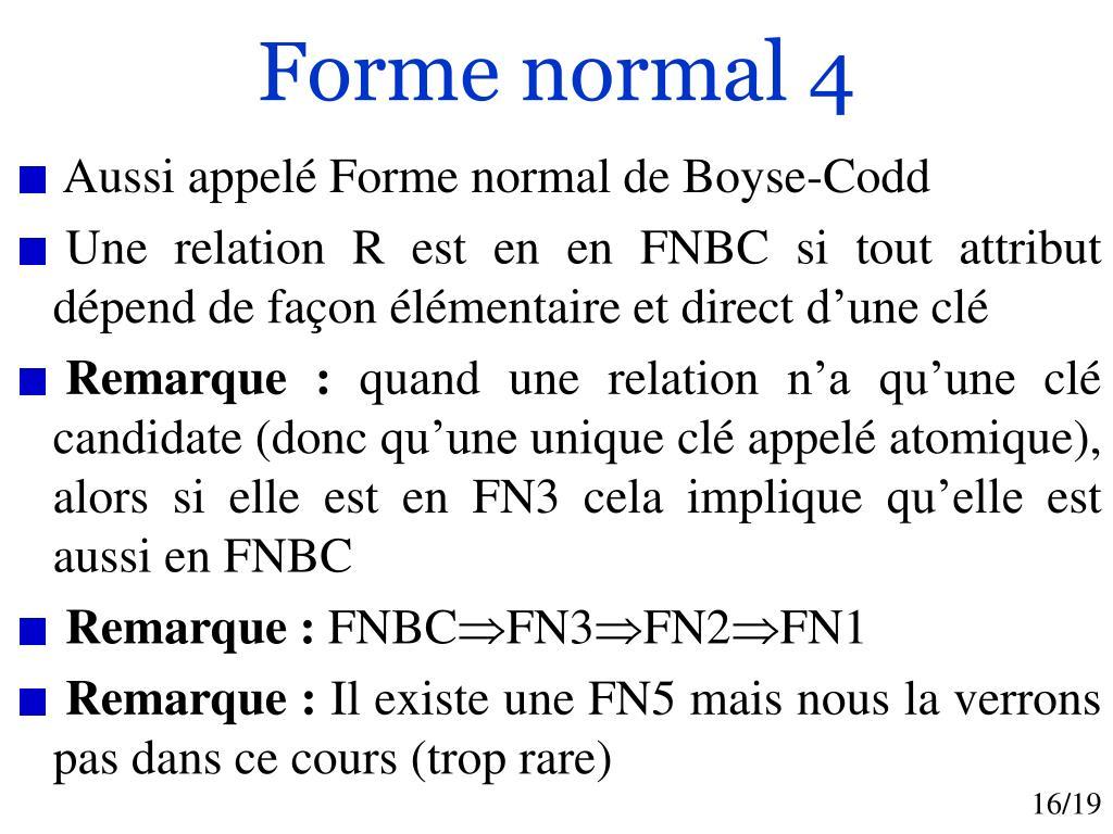 Forme normal 4
