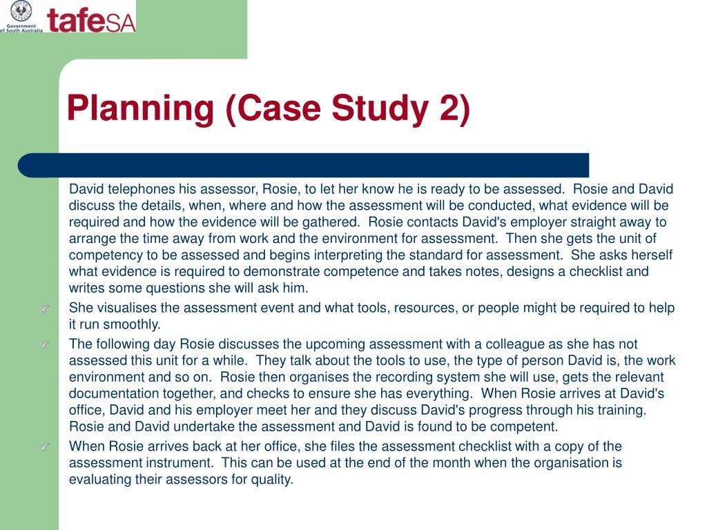 Planning (Case Study 2)