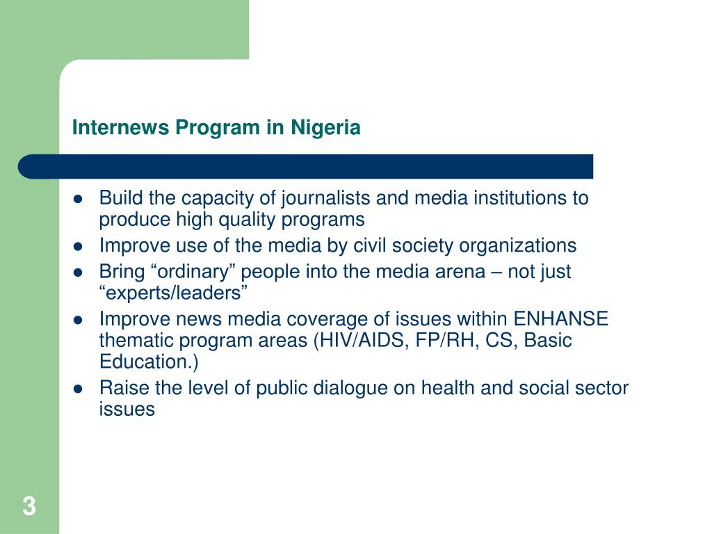 Internews Program in Nigeria