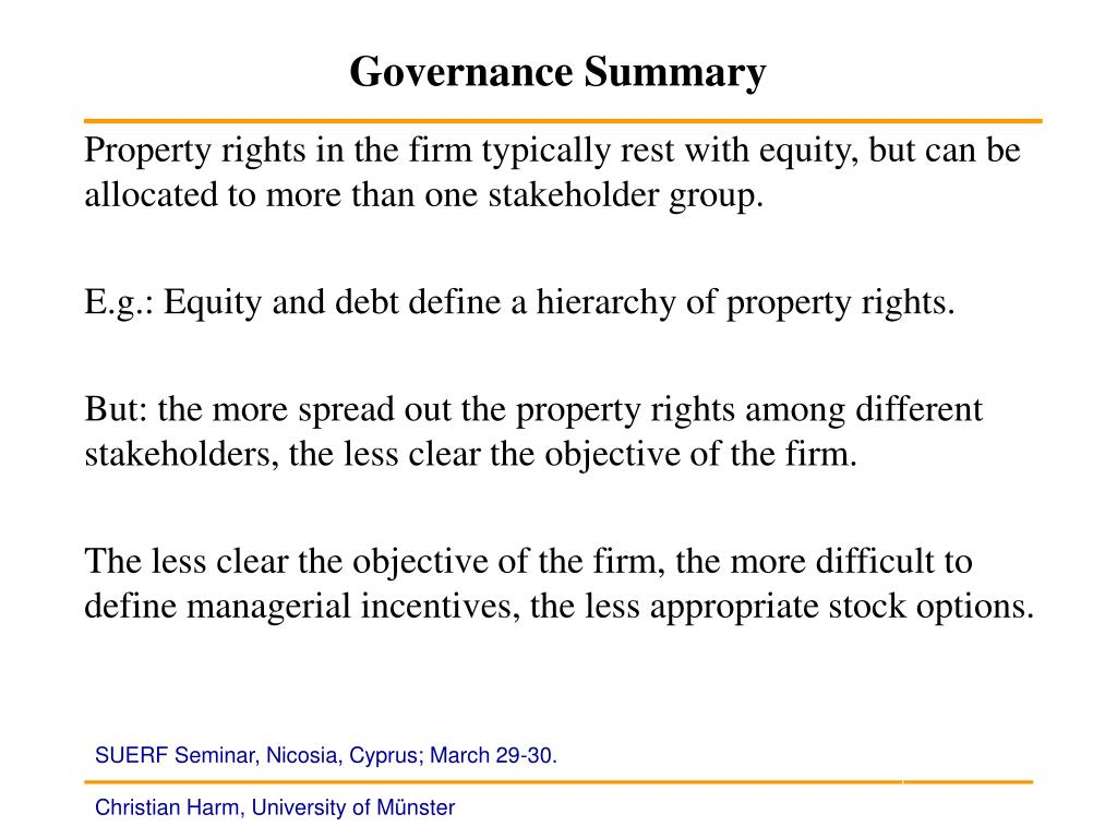 Governance Summary