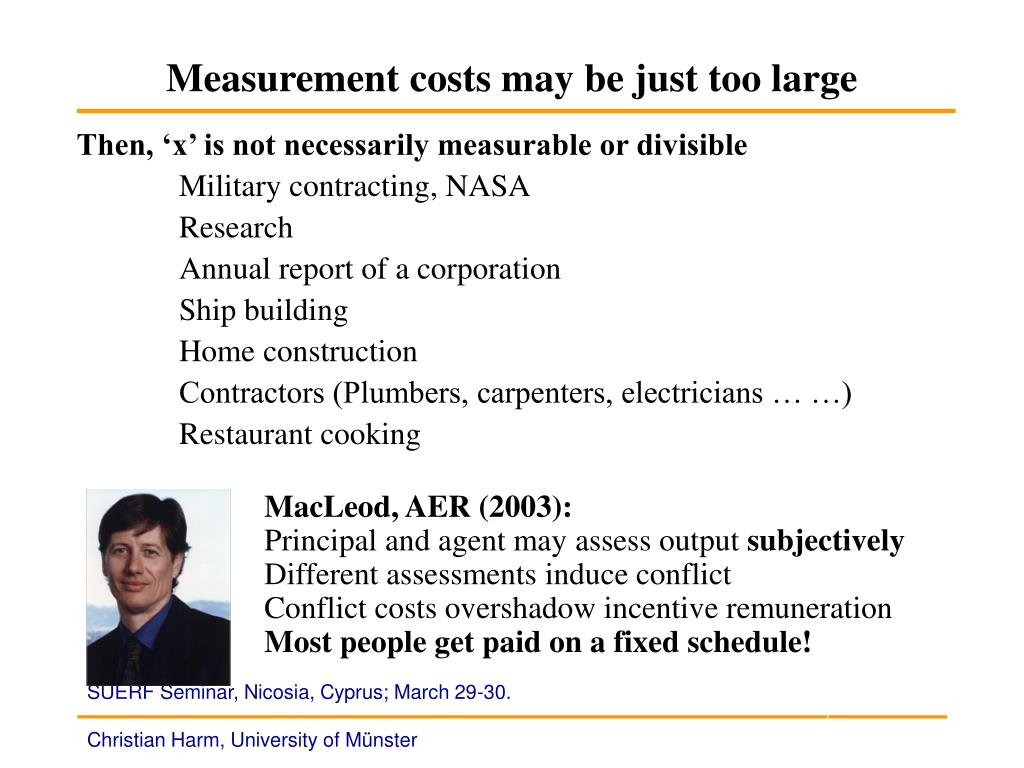 Measurement costs may be just too large