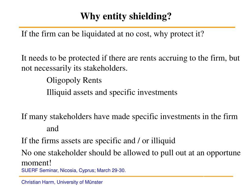 Why entity shielding?
