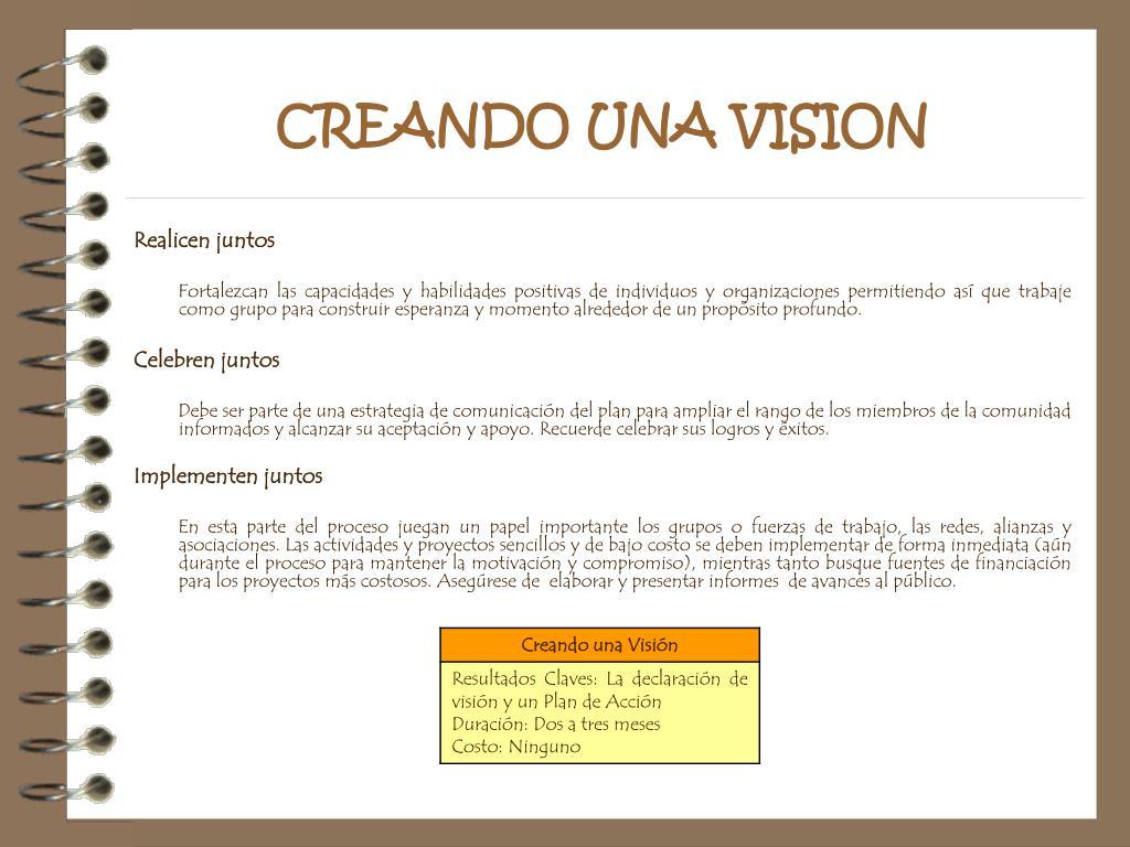 CREANDO UNA VISION