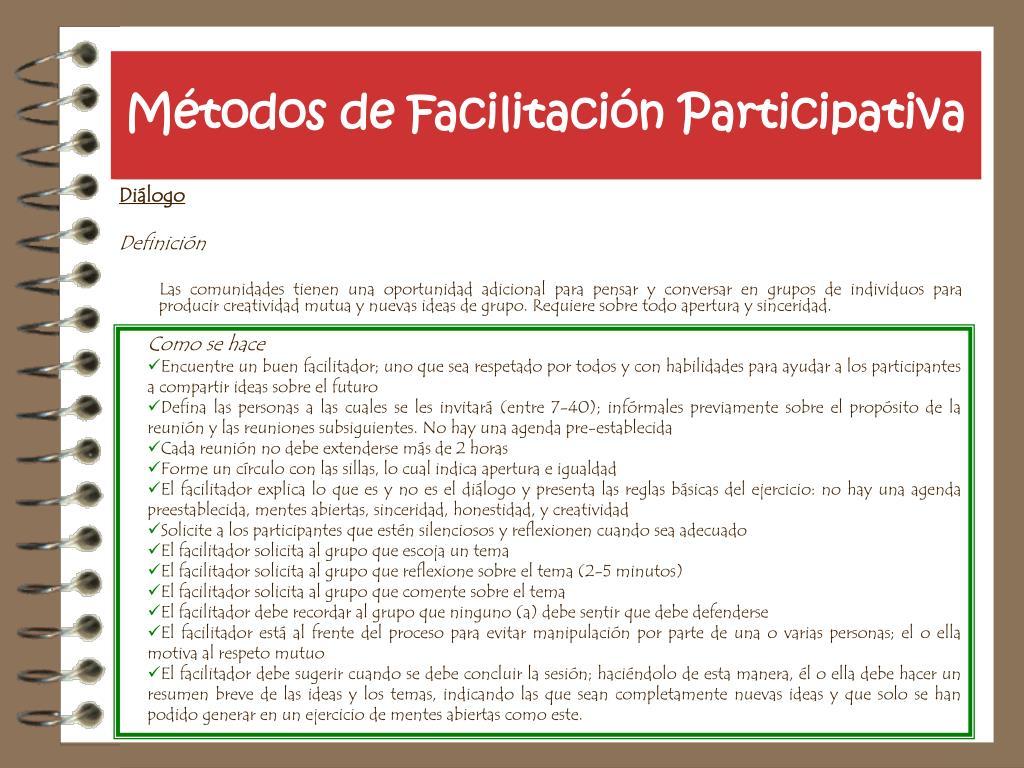 Métodos de Facilitación Participativa