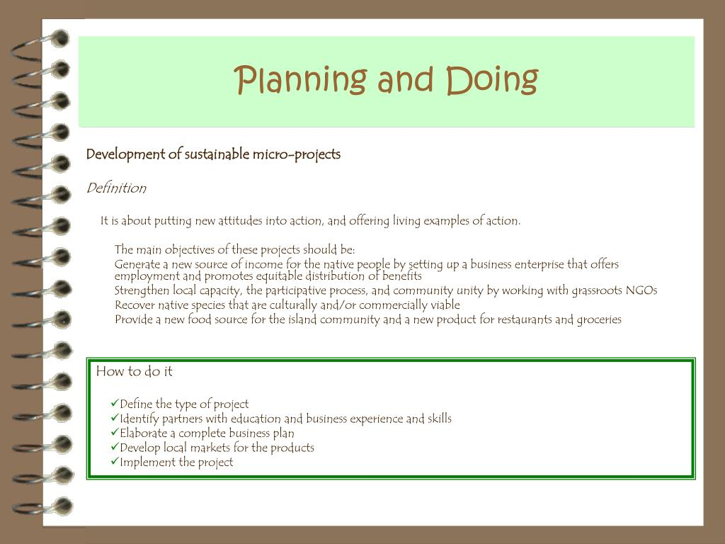 Planning and Doing