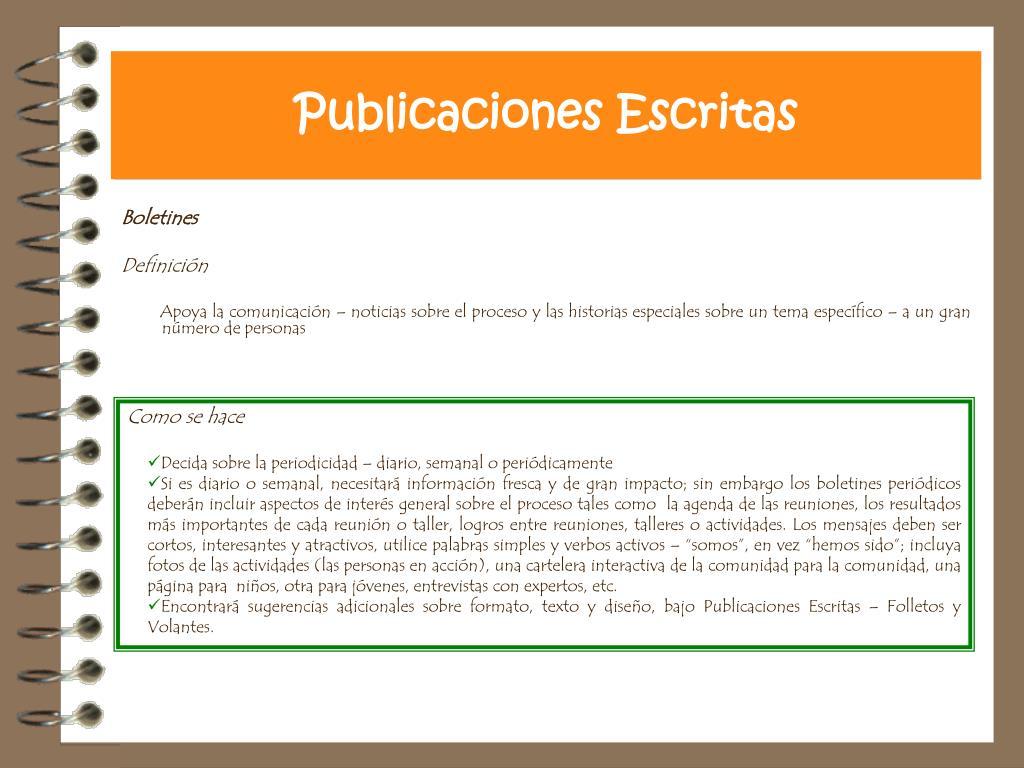 Publicaciones Escritas