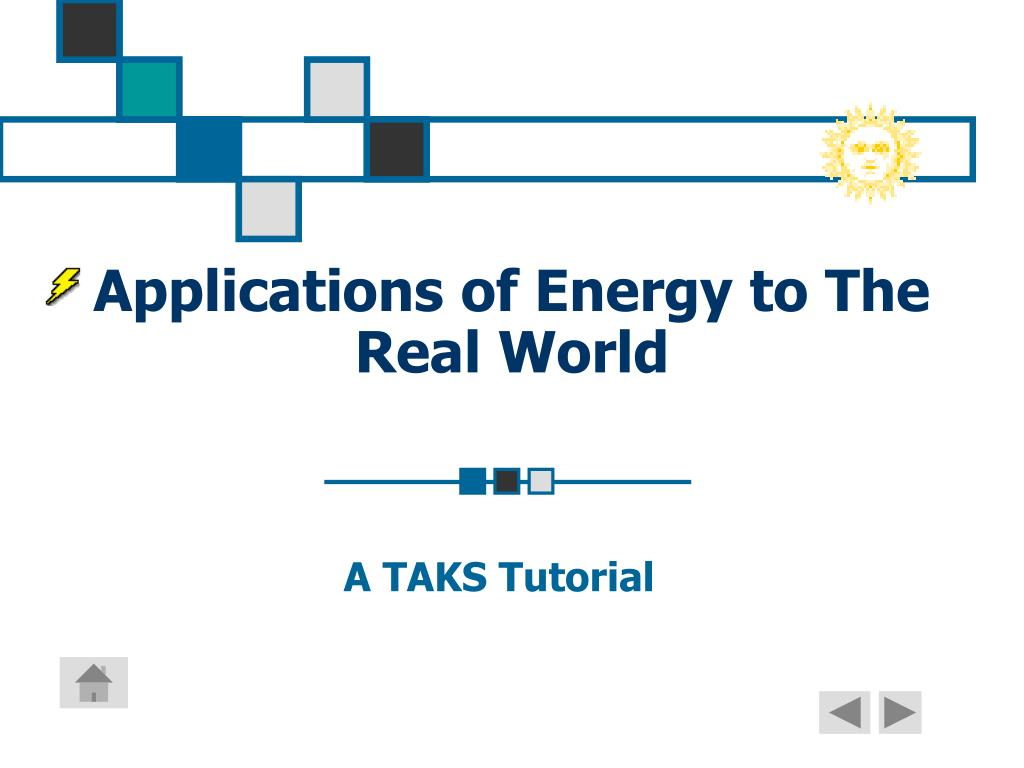 application of energy