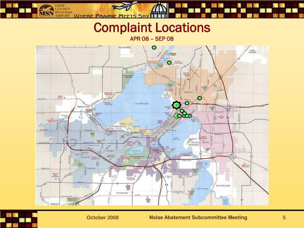 Complaint Locations