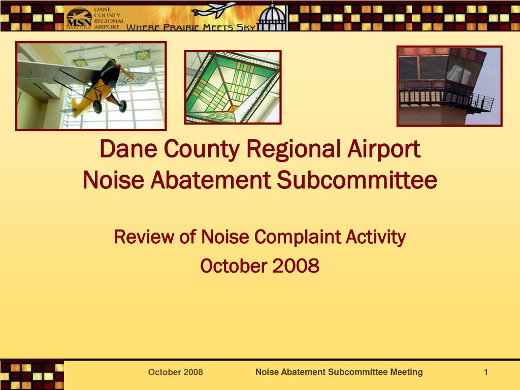 dane county regional airport noise abatement subcommittee