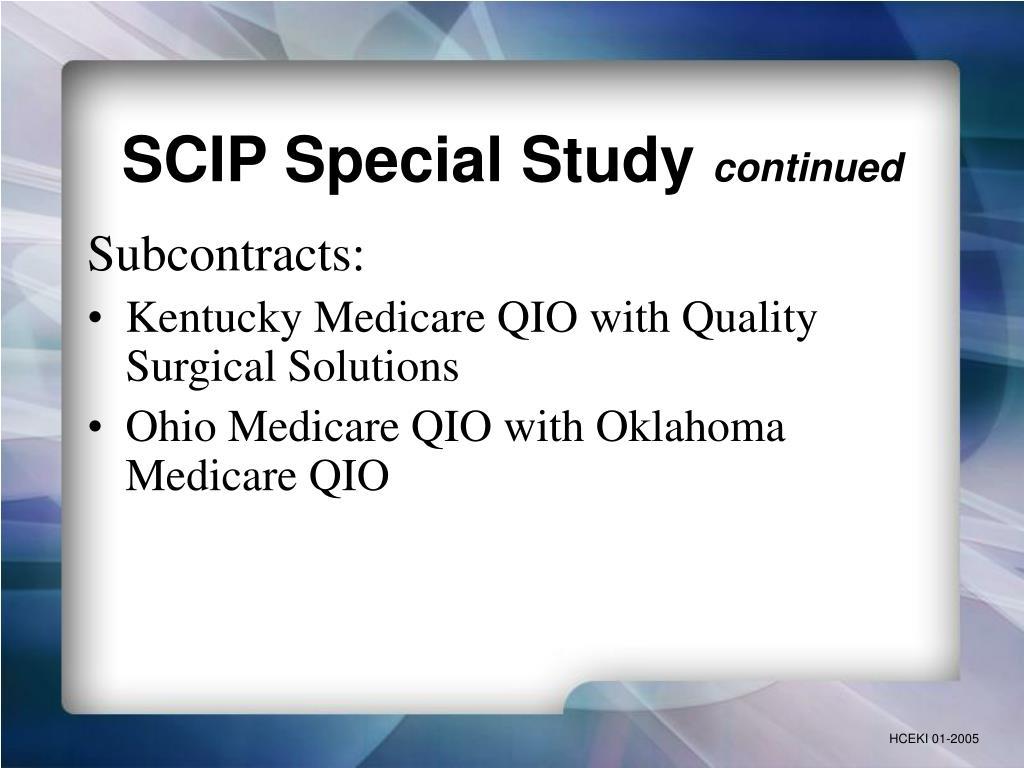 SCIP Special Study