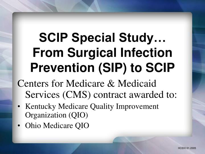Scip special study from surgical infection prevention sip to scip l.jpg