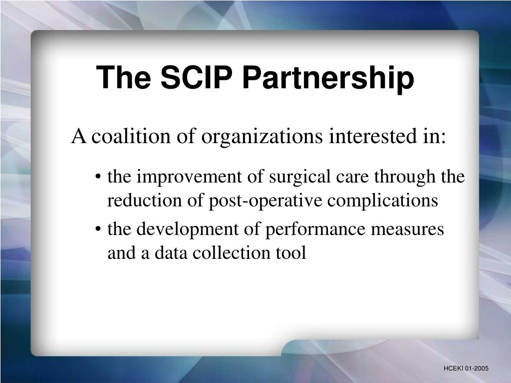 The SCIP Partnership