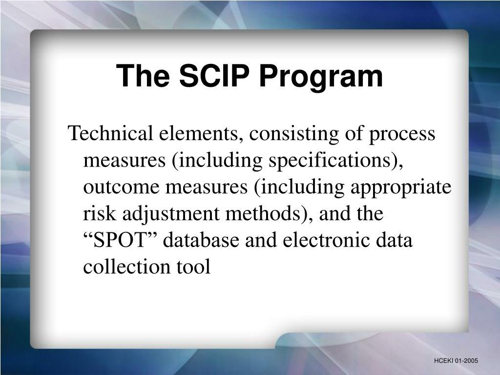 The SCIP Program