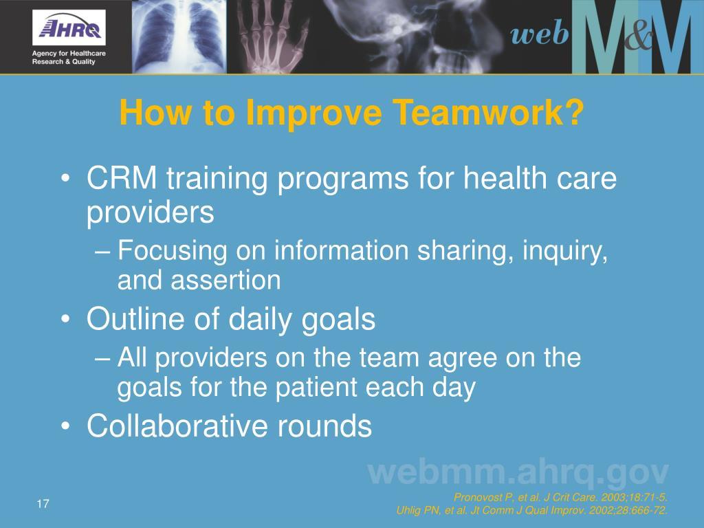 How to Improve Teamwork?