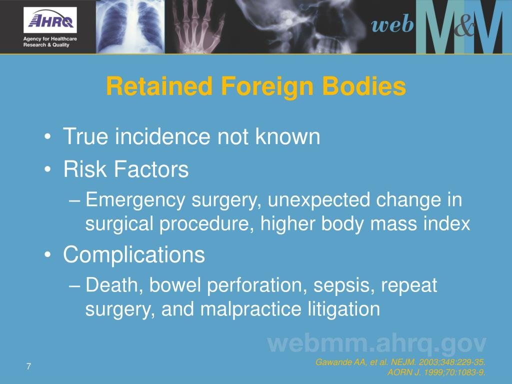 Retained Foreign Bodies