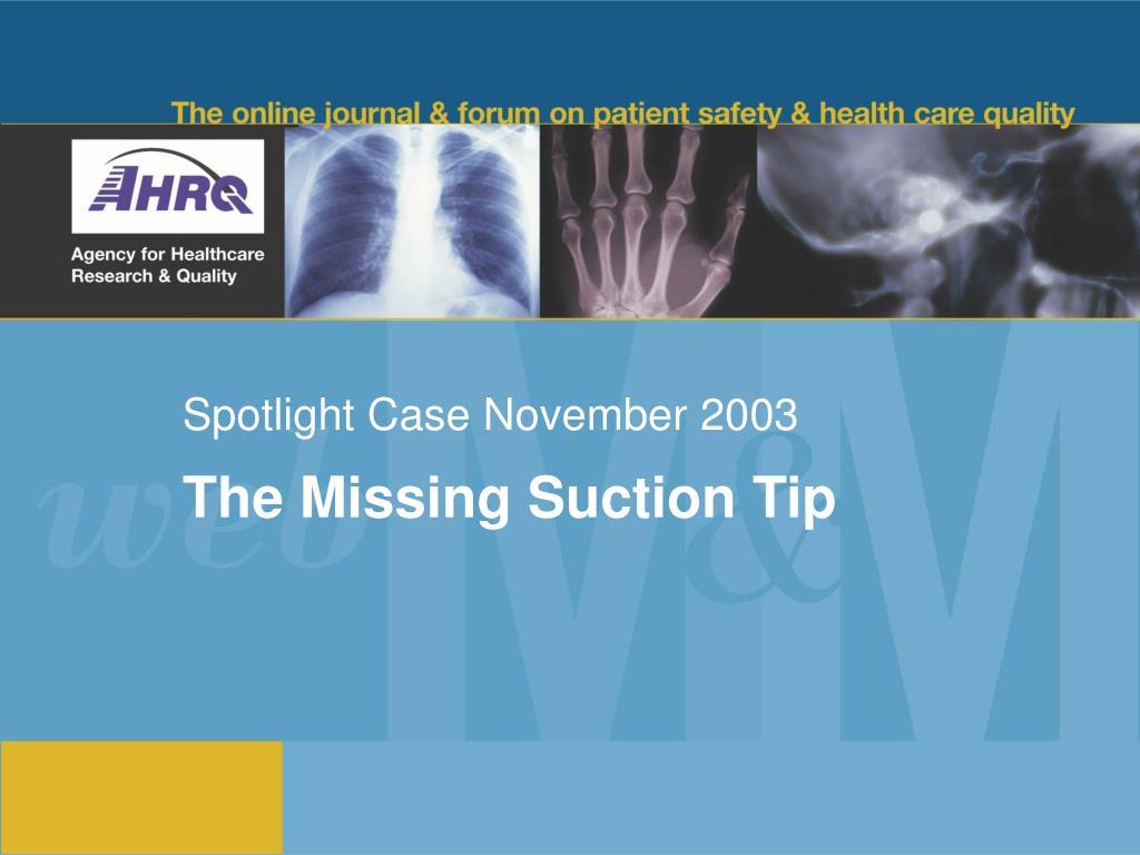 spotlight case november 2003
