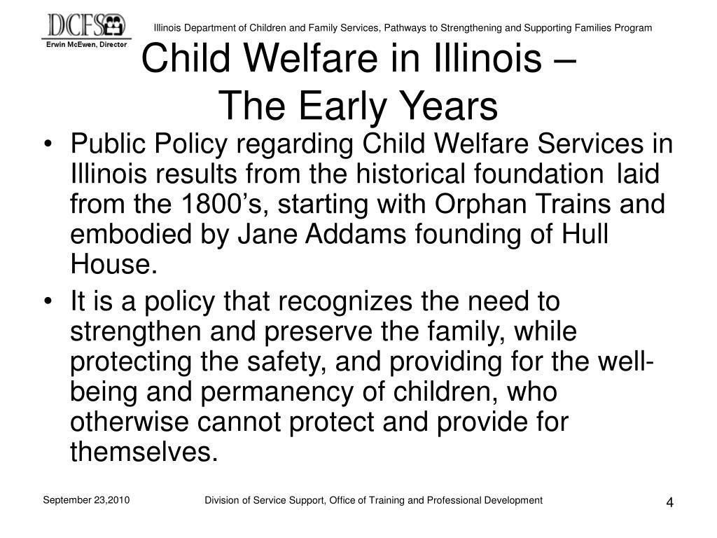 Child Welfare in Illinois –