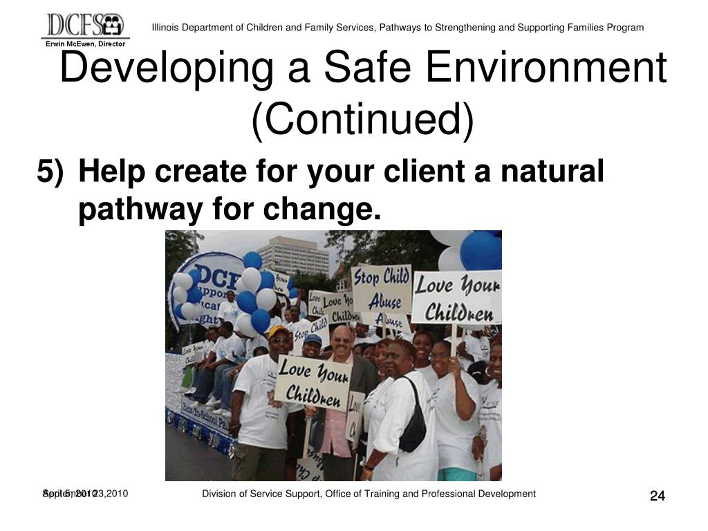 Developing a Safe Environment (Continued)