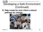 developing a safe environment continued24