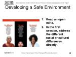 developing a safe environment