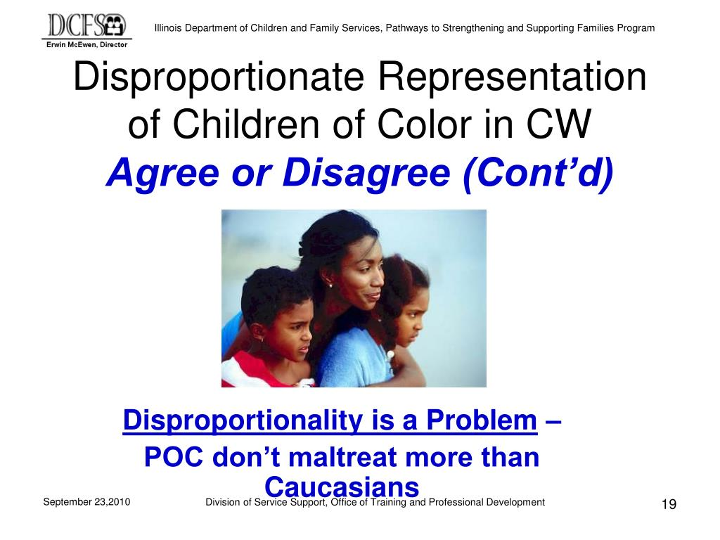 Disproportionate Representation of Children of Color in CW