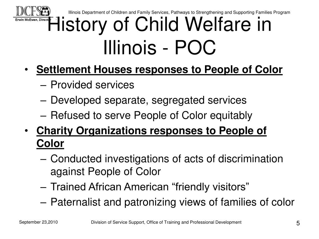 History of Child Welfare in Illinois - POC