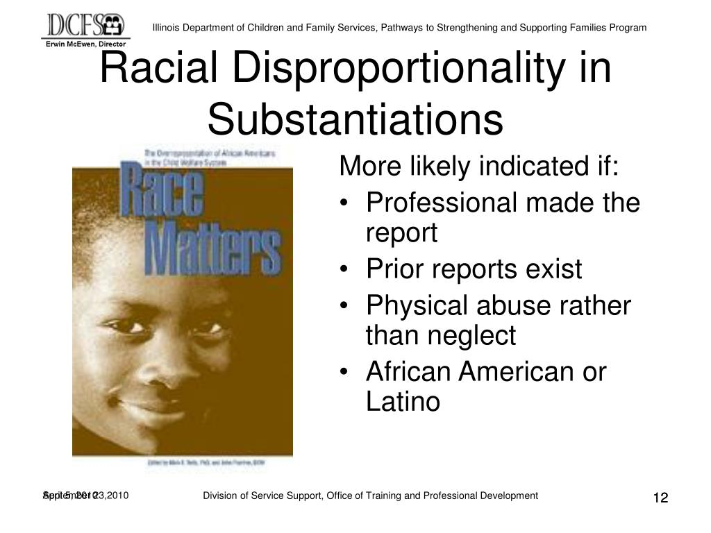 Racial Disproportionality in Substantiations
