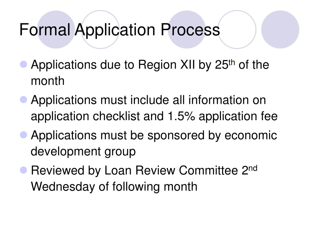 Formal Application Process