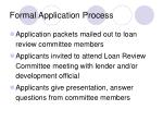 formal application process9