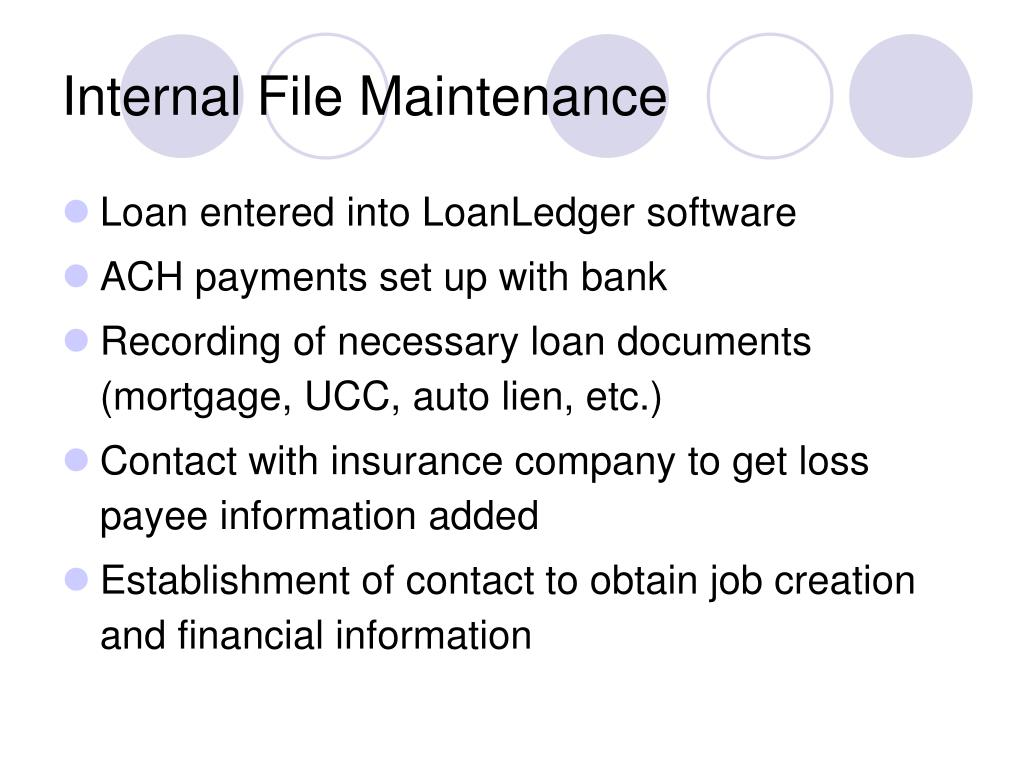 Internal File Maintenance