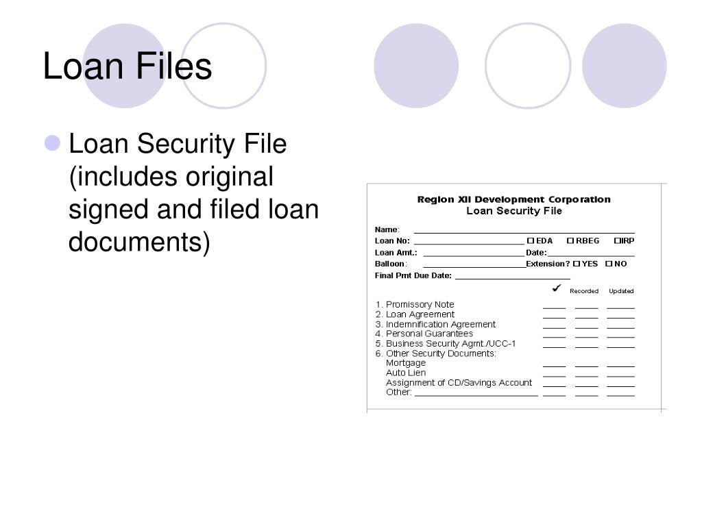 Loan Files