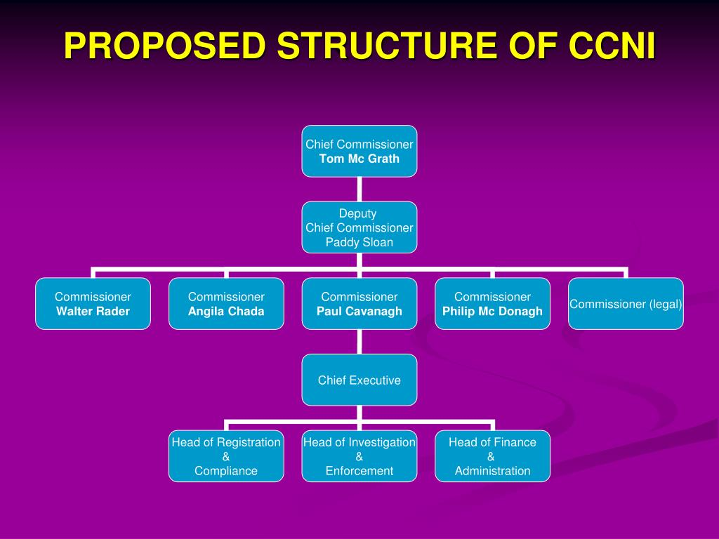 PROPOSED STRUCTURE OF CCNI