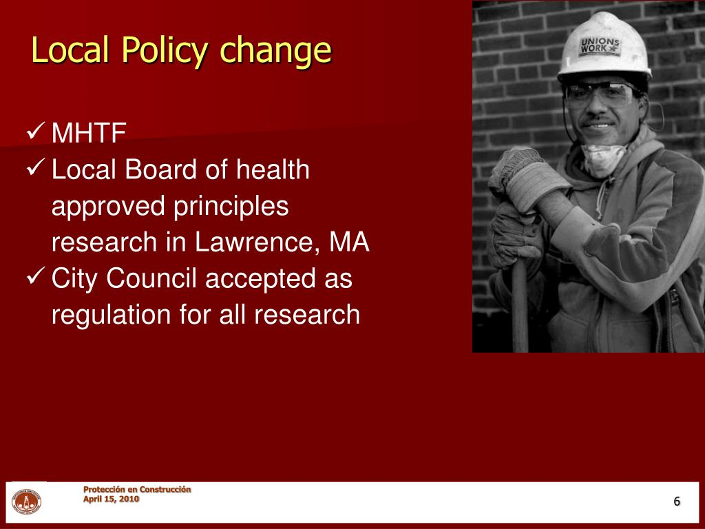 Local Policy change