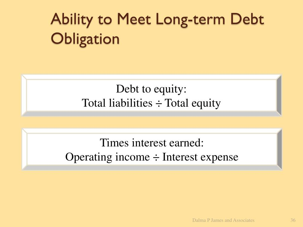 Ability to Meet Long-term Debt Obligation