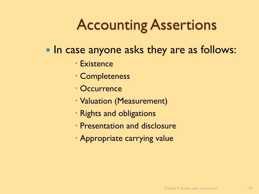 Accounting Assertions