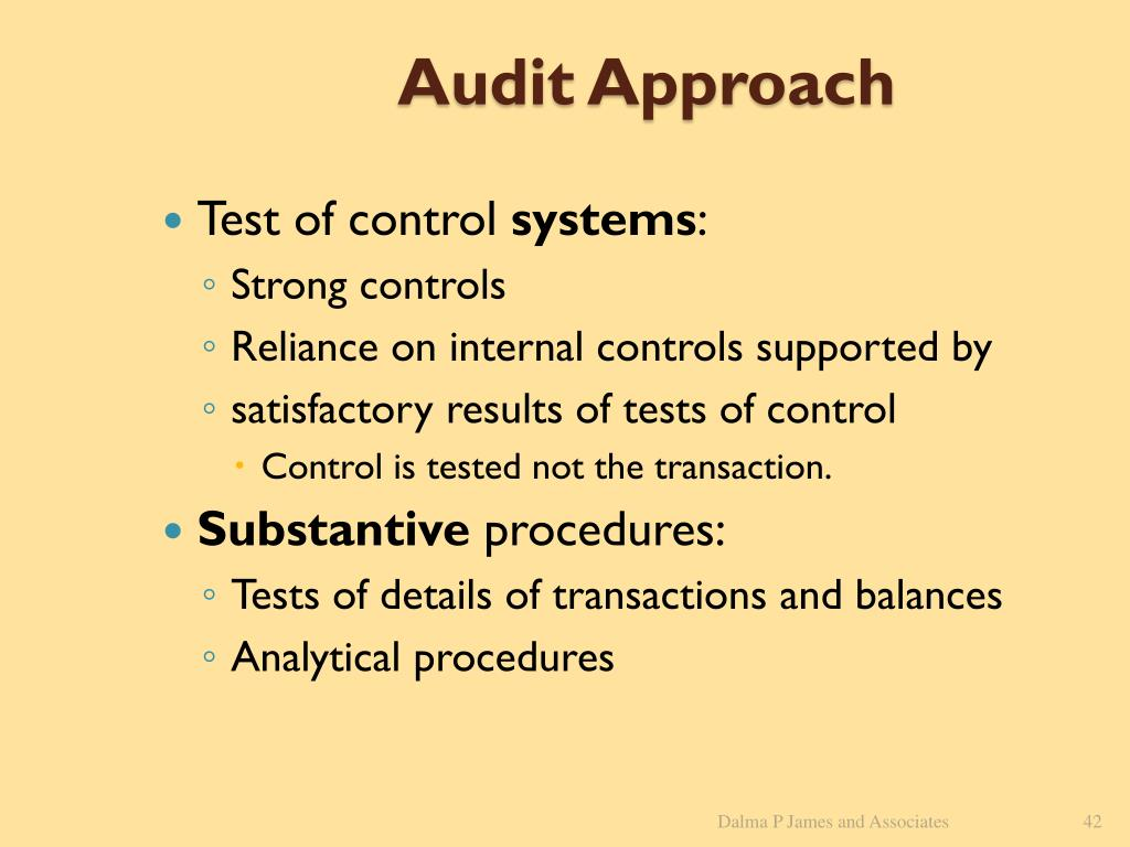 Audit Approach